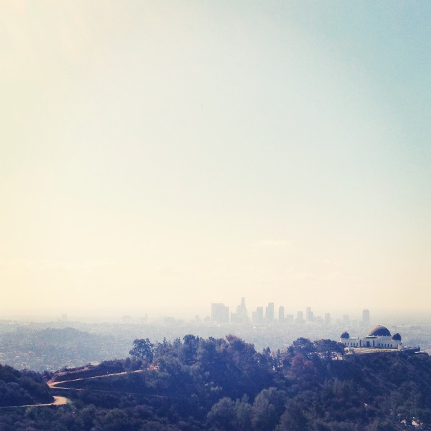 griffith observatory los angeles skyline hike