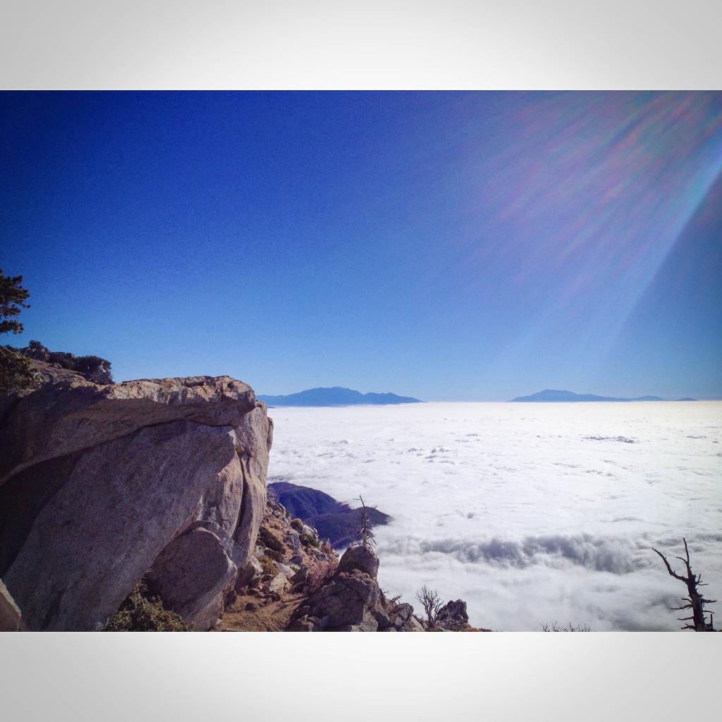 cucamonga peak clouds